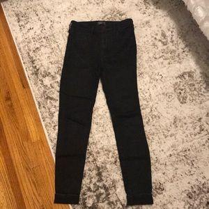 High Rise Super Skinny A&F black jeans